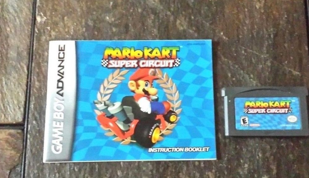 Gameboy Advance Game Gba Sp Ds Dsl Mario Kart Super Circuit