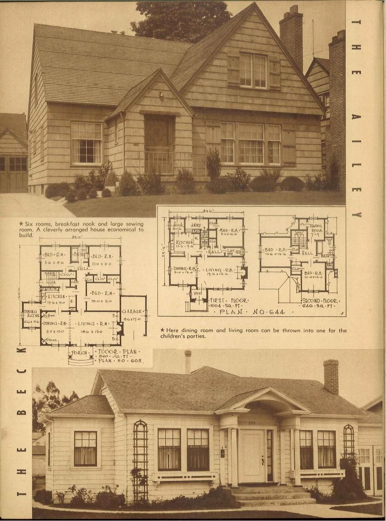 1940s--Attractive homes : 62 homes with plans. | VinTagE HOUSE PlanS ...