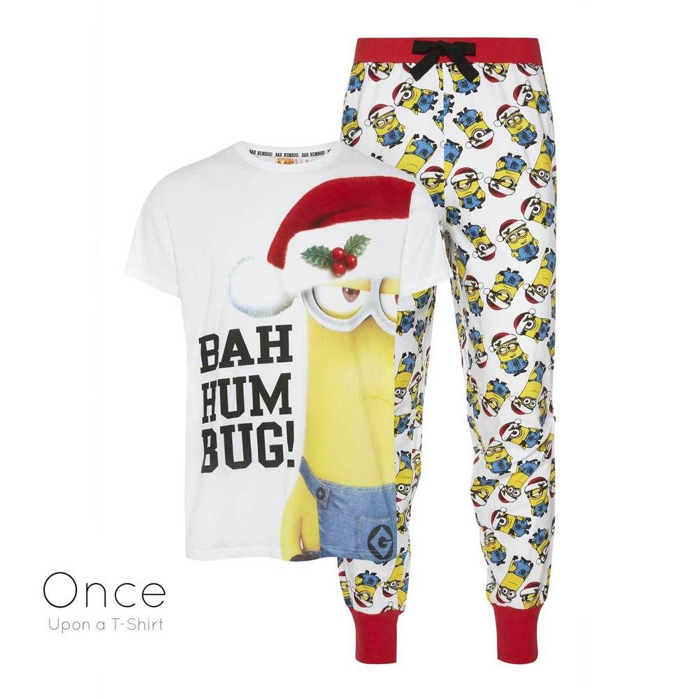 Details About Mens Official Minions Bah Humbug Christmas