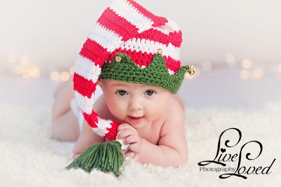 Download Pdf Crochet Pattern 025 Christmas Elf Hat With Bells