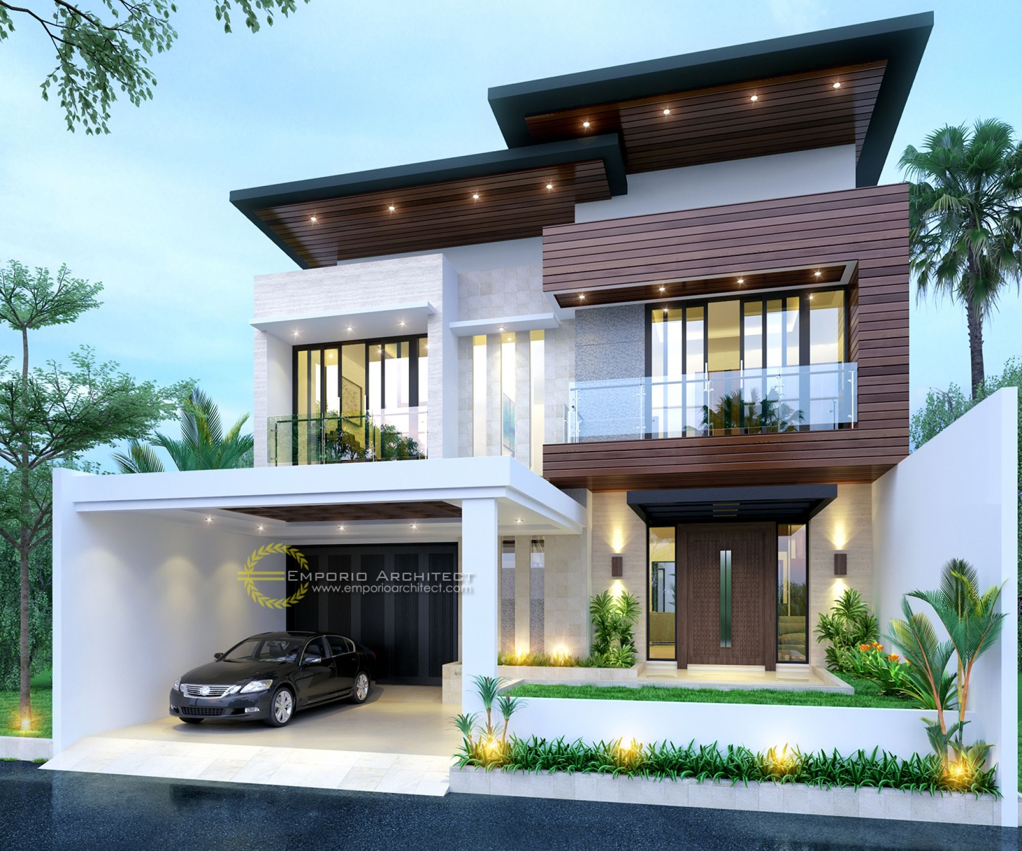 Jasa arsitek jatibening bekasi desain rumah ibu anisa also house exterior plans india hiqra kerala design rh pinterest