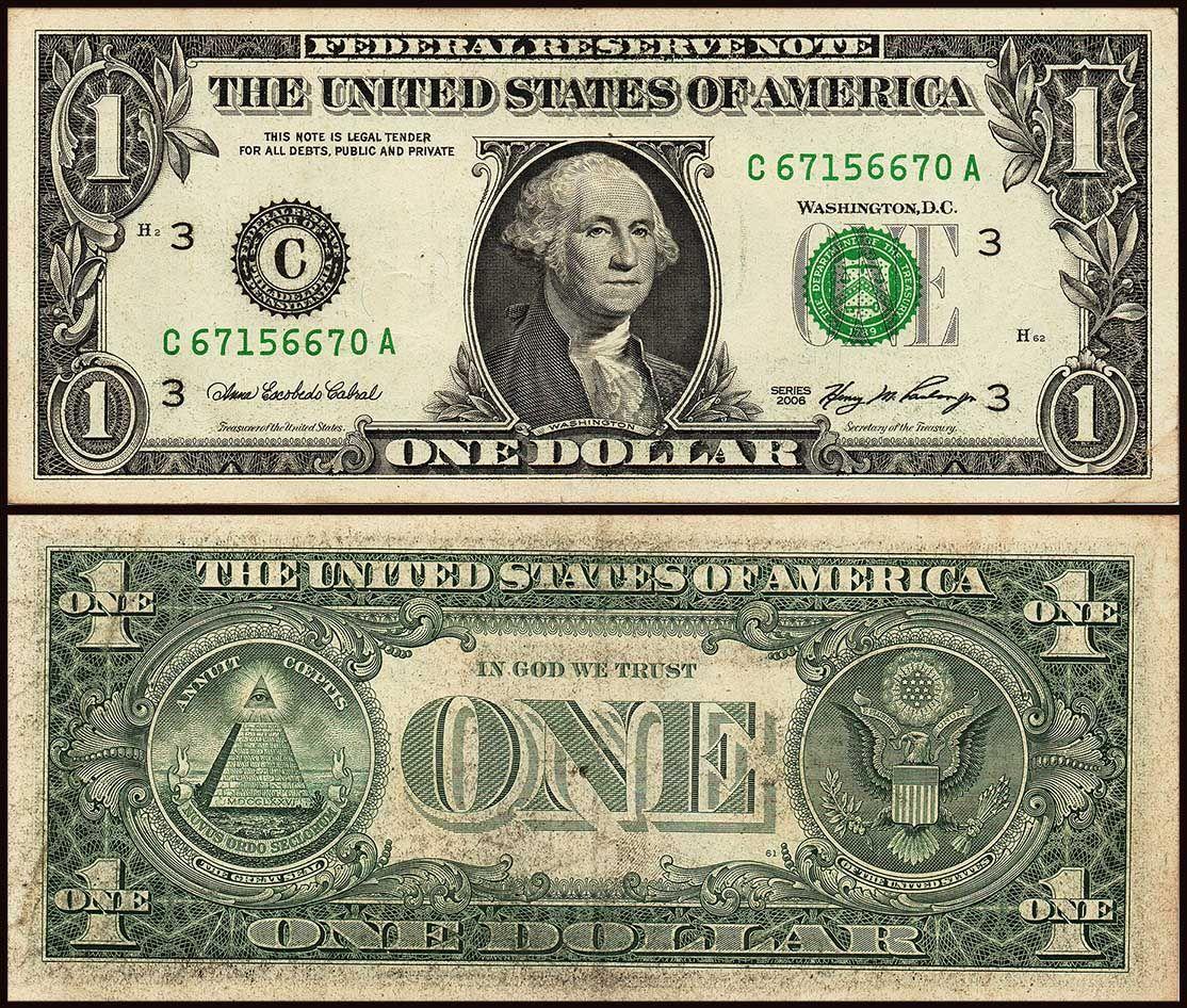America 1 Dollar Used Banknote