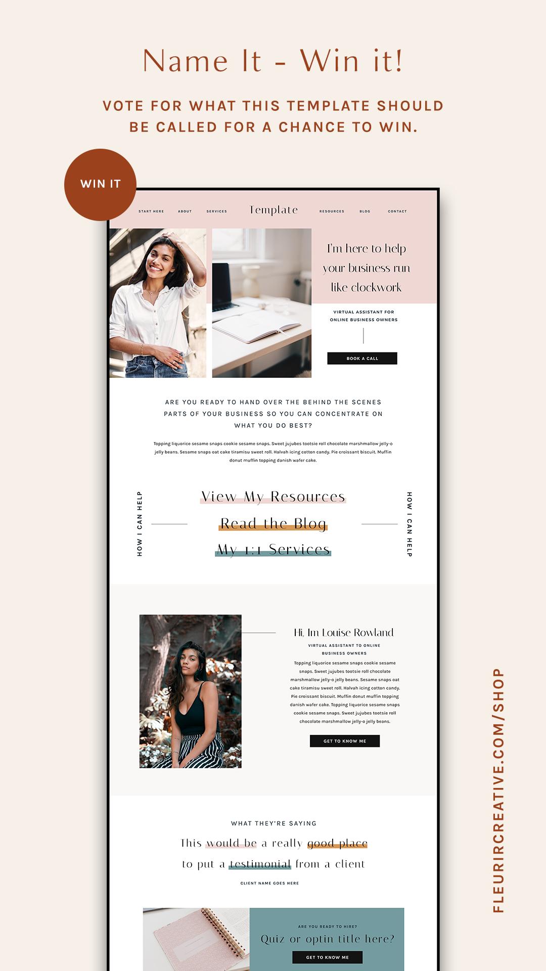 Showit Website Template For Service Based Businesses Website Design Web Design Tips Showit Website