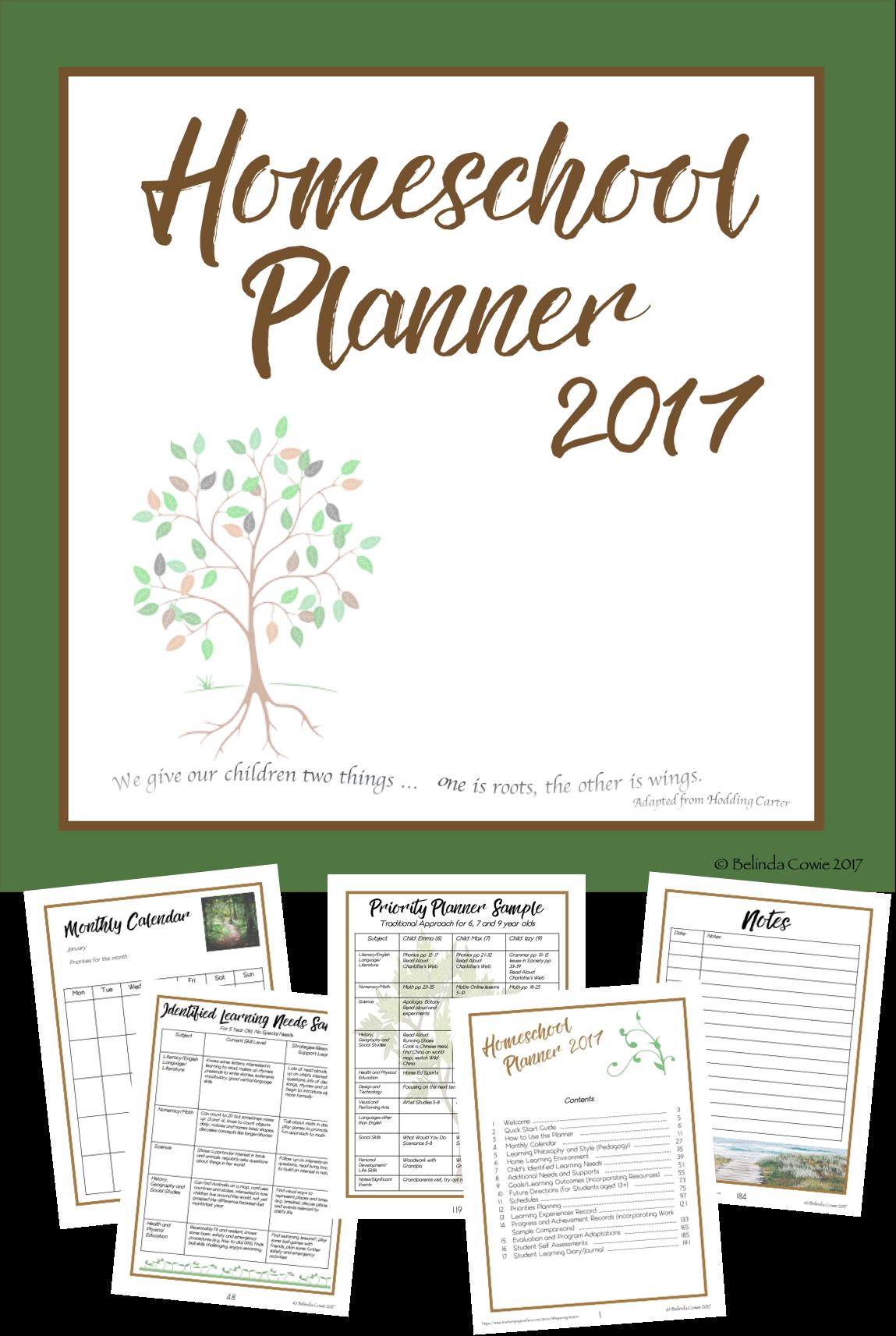 Australian Comprehensive Homeschool Planner Australian