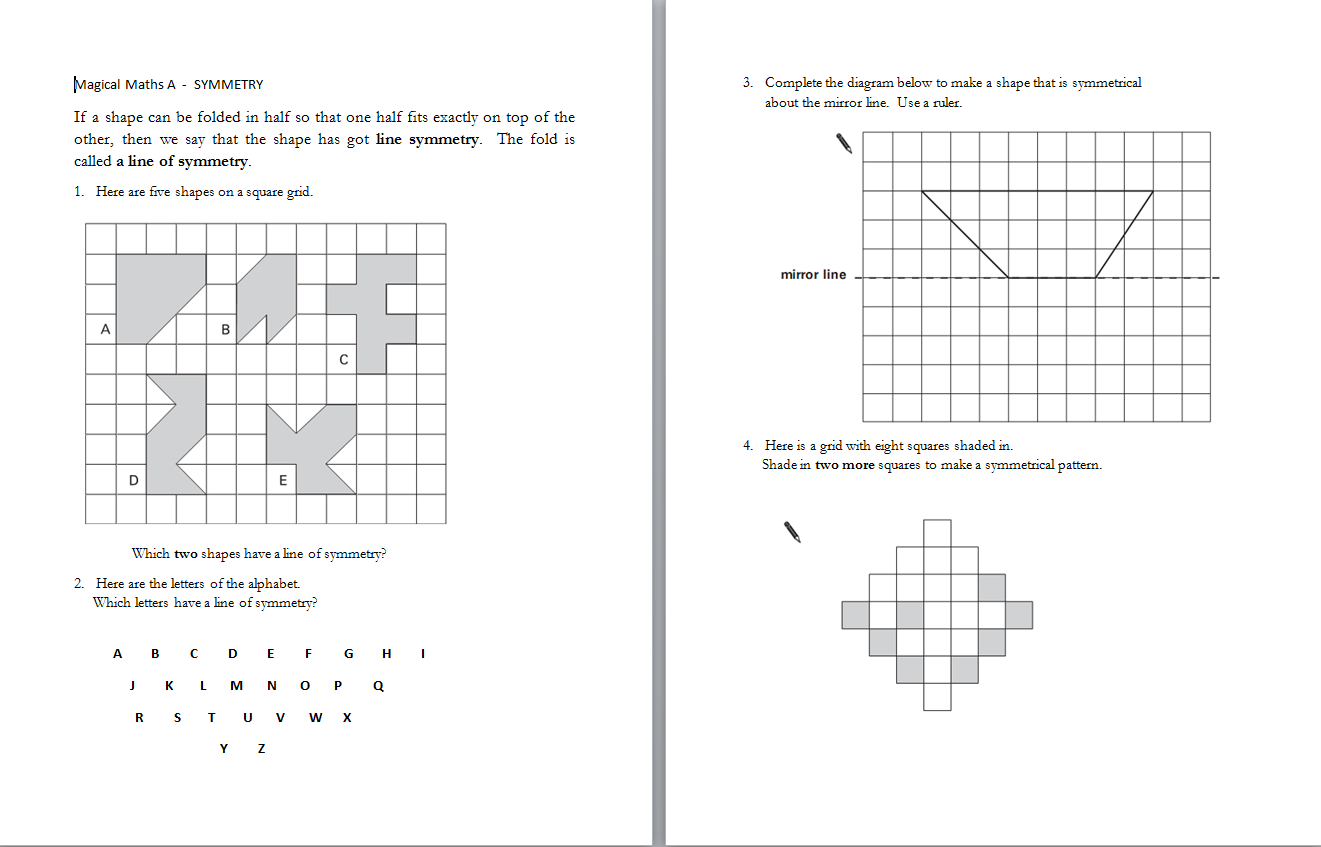 Ks2 Maths For Sats Symmetry Time And Shapes Questions From Various Past Papers Grouped Together Ks2 Maths Math Sats