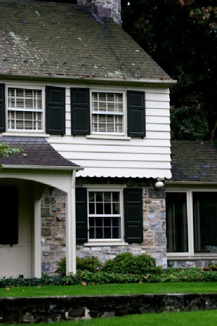 Garrison colonial exterior google search for the home pinterest colonial exterior for Colonial revival stone exterior paint