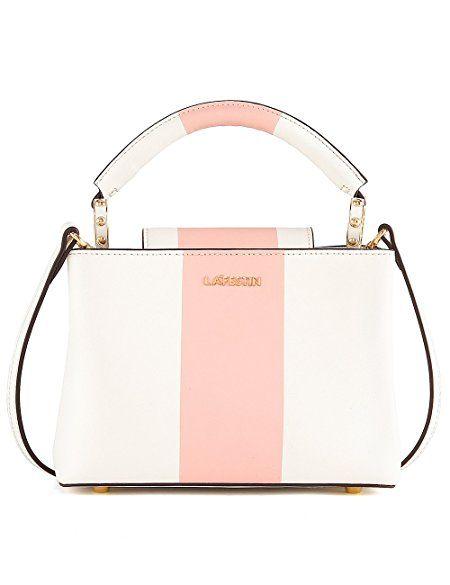 LA FESTIN Cute Purses for Woman Popular Stripes Shoulder Bags Fashion Pink  Girls Small Handbag d816d3804a