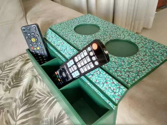 Porta Copo E Porta Controle Para Sofa Elo7 Cemporcento Algodao Porta Copos Ideias Criativas Patchwork