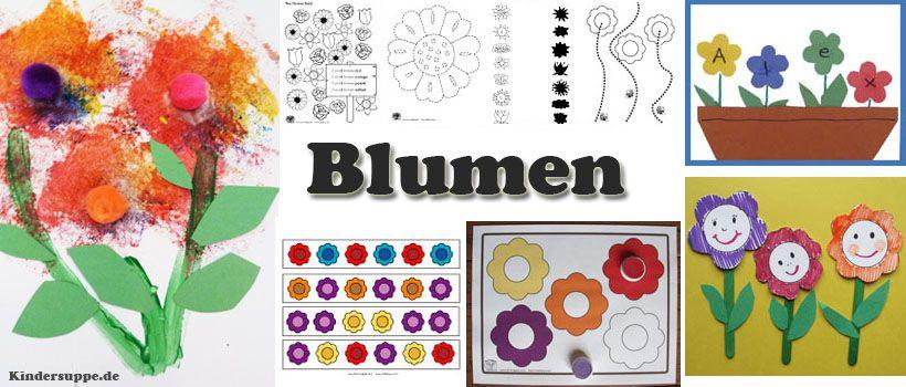 Kindergarten Ideen Zum Projekt Und Thema Blumen Und Pflanzen Projekte Im Kindergarten Kindergarten Basteln Kindergarten