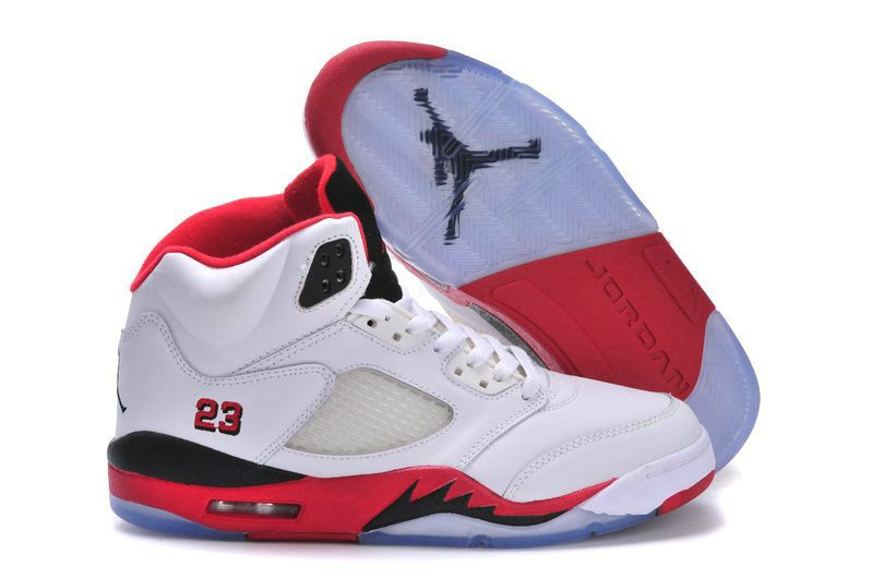 more photos b63ca aeab0 Air Jordan 5 Retro Fire Red Black Tongue White Fire Red-Black Big Boys Youth
