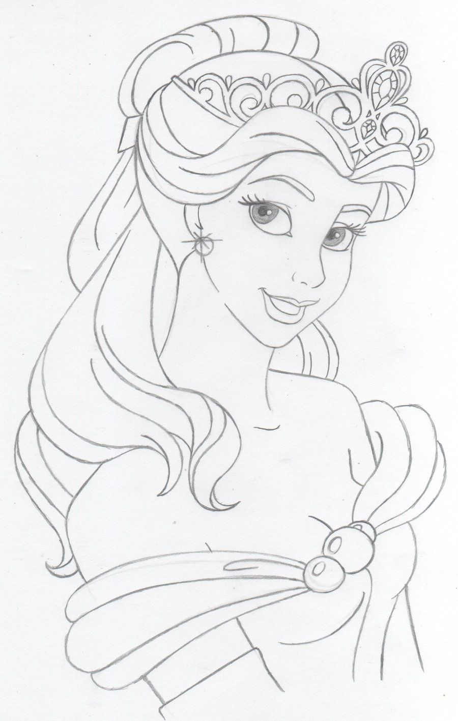 Disney's Belle by katebushfanatic Princess drawings