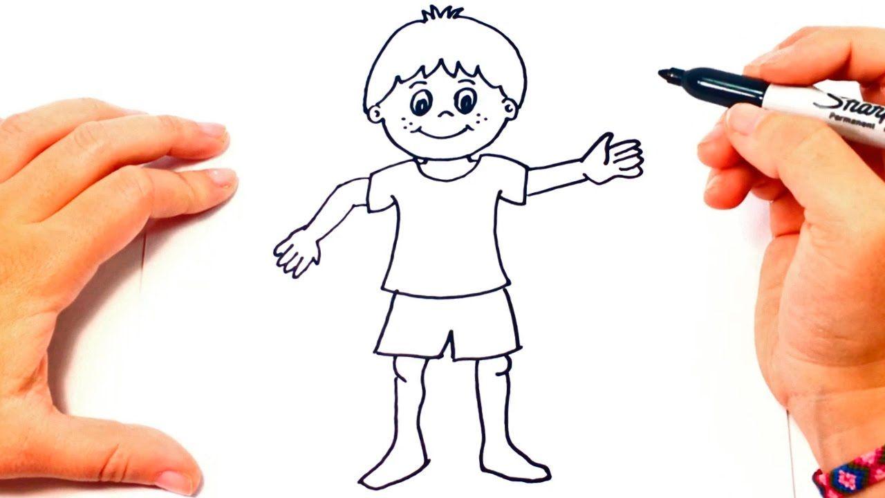Cómo Dibujar Un Niño Paso A Paso Dibujo Fácil De Niño Como Dibujar Niños Drawing Lessons Cómo Dibujar