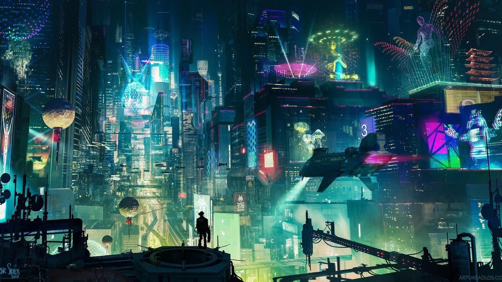 Res 1920x1080 Cyberpunk City Oboi Studiya Oboev 10 Desyatki Tysyach Hd I Ultrahd Oboev Dlya Android Windows I Xbox Artur Cyberpunk Memes