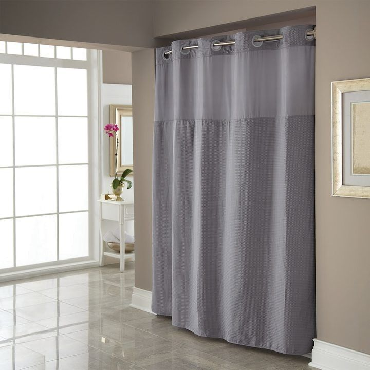 geneva with valance tailored sc matching grey fabric absolute a tailor curtain hookless shower