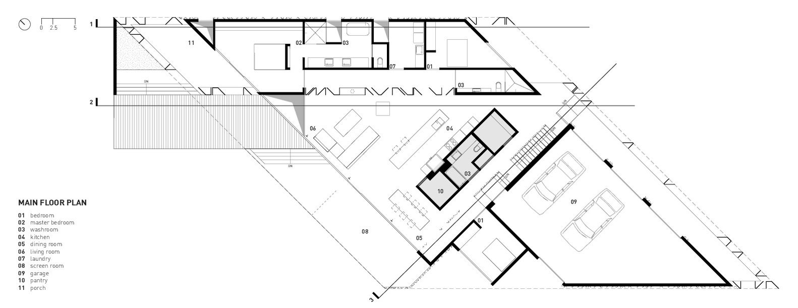 Gallery of parallelogram house architecture also plans rh pinterest