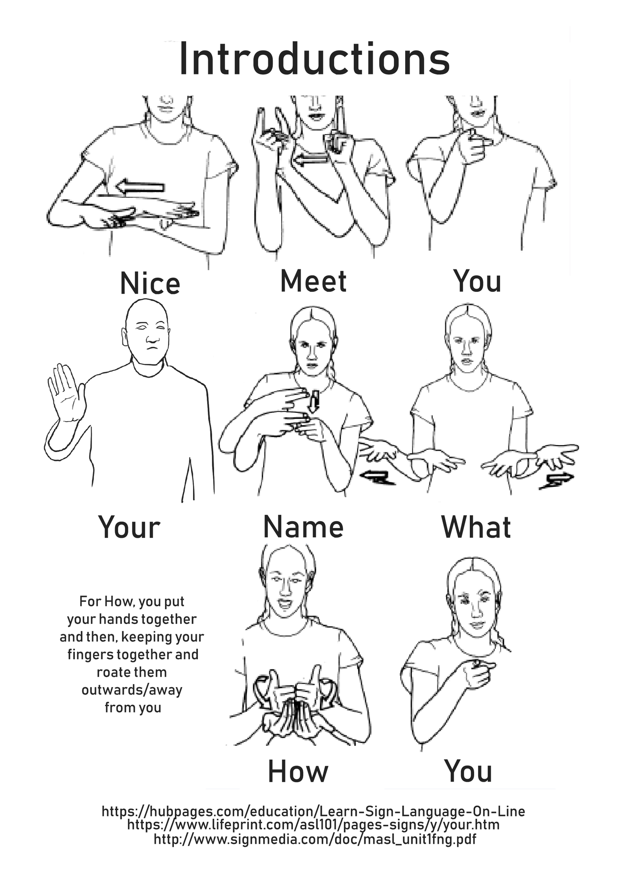 Stars, hide your fires — Put together an ASL packet to