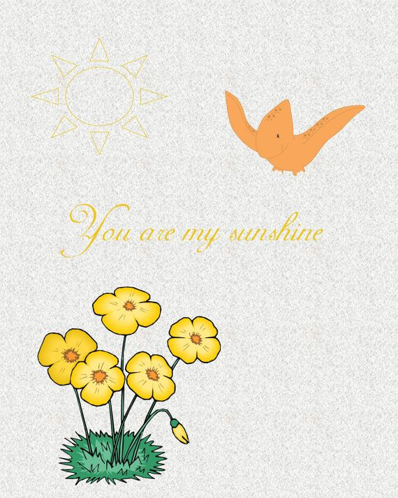 You Are My Sunshine  8 x 10 Digital Print  by SassyAndJassy, $8.00