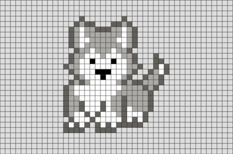 Gray Wolf Pixel Art Pixel Art Pixel Art Templates