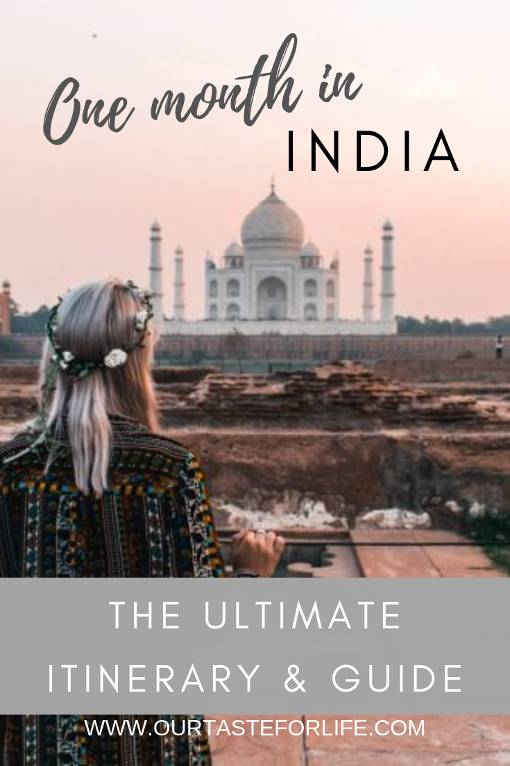 India Backpacking Route - 1 Month in India Itinera