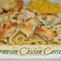 Parmesan Chicken Casserole - The Cookin Chicks