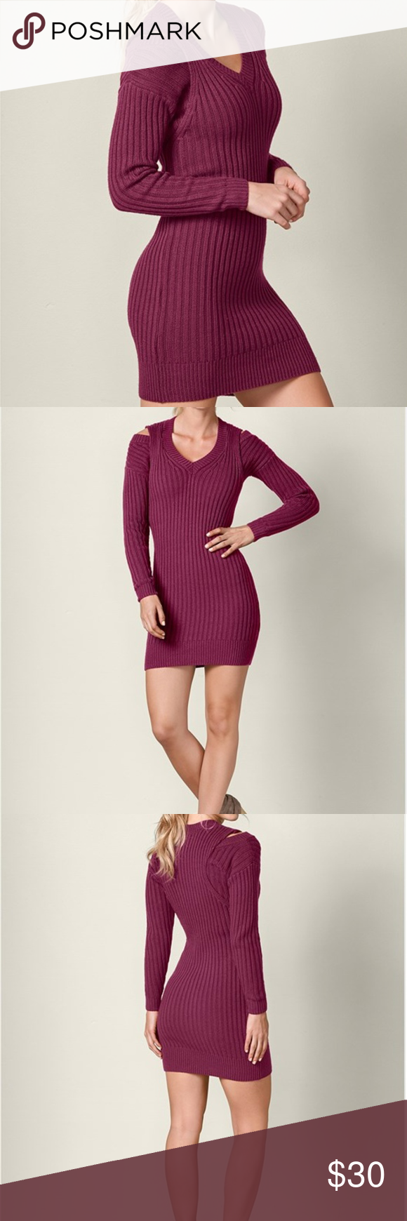 4c0f87a3de4 VENUS V-Neck Sweater Dress NWOT Berry Brand new. Berry color Magically  lengthen your figure with this V-neck
