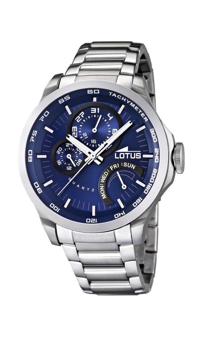 b4907a2aca13 Lotus 15845 2 - Reloj analógico de cuarzo para hombre con correa de acero  inoxidable