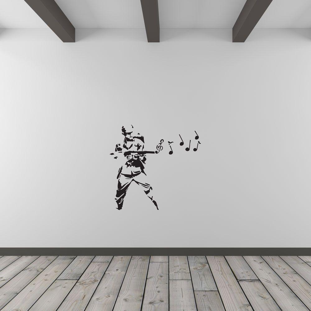 Banksy musical soldier vinyl wall art decal wall art decal vinyl