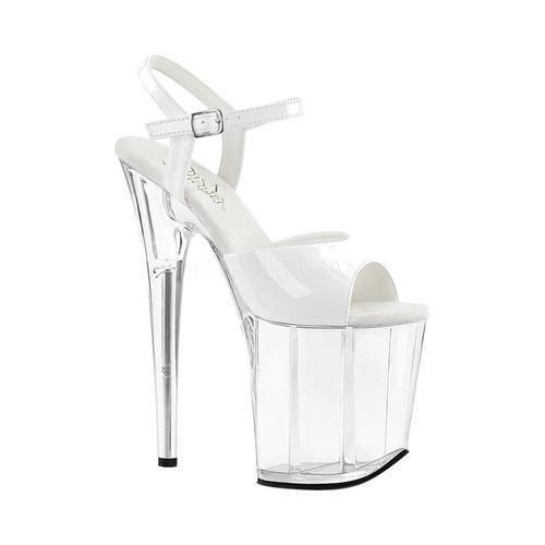 f74c2ab9ac85 Pleaser Women s Flamingo 809 Ankle Strap Platform Sandal White ...