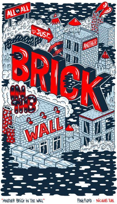 Brick Ilustras Pink Floyd Dia Do Rock Rock Classico