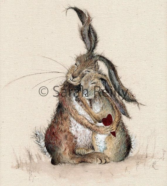 Hares my Heart - Charming Rustic Medium Mounted Pr