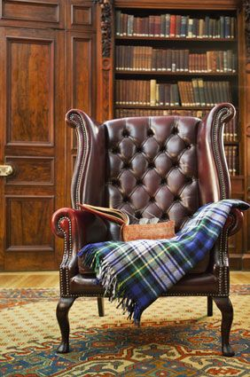 Throw Draped Over Chair Chesterfield Armchair Chair Armchair