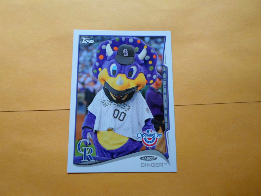 2014 TOPPS OPENING DAY MASCOT DINGER # M-10 #ColoradoRockies