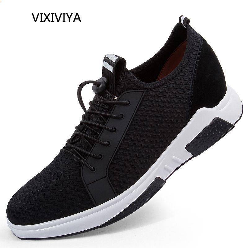Nowe Buty Na Co Dzien Platformy Mezczyzni 2018 Letnie Oddychajace Buty Z Siatki Moda Meska Wzrost Wysokosci Czarne Buty Meskie Swiatlo Sneakers Nike Shoes Nike