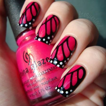 Butterfly nail art:They look awesome in spring. There are many indie stamping plates available in this design.