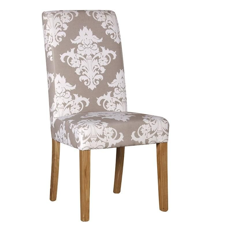 cream damask seat high back dining chairs emmerdale chair