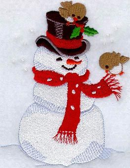 Winking Snowman Embroidery Ornament