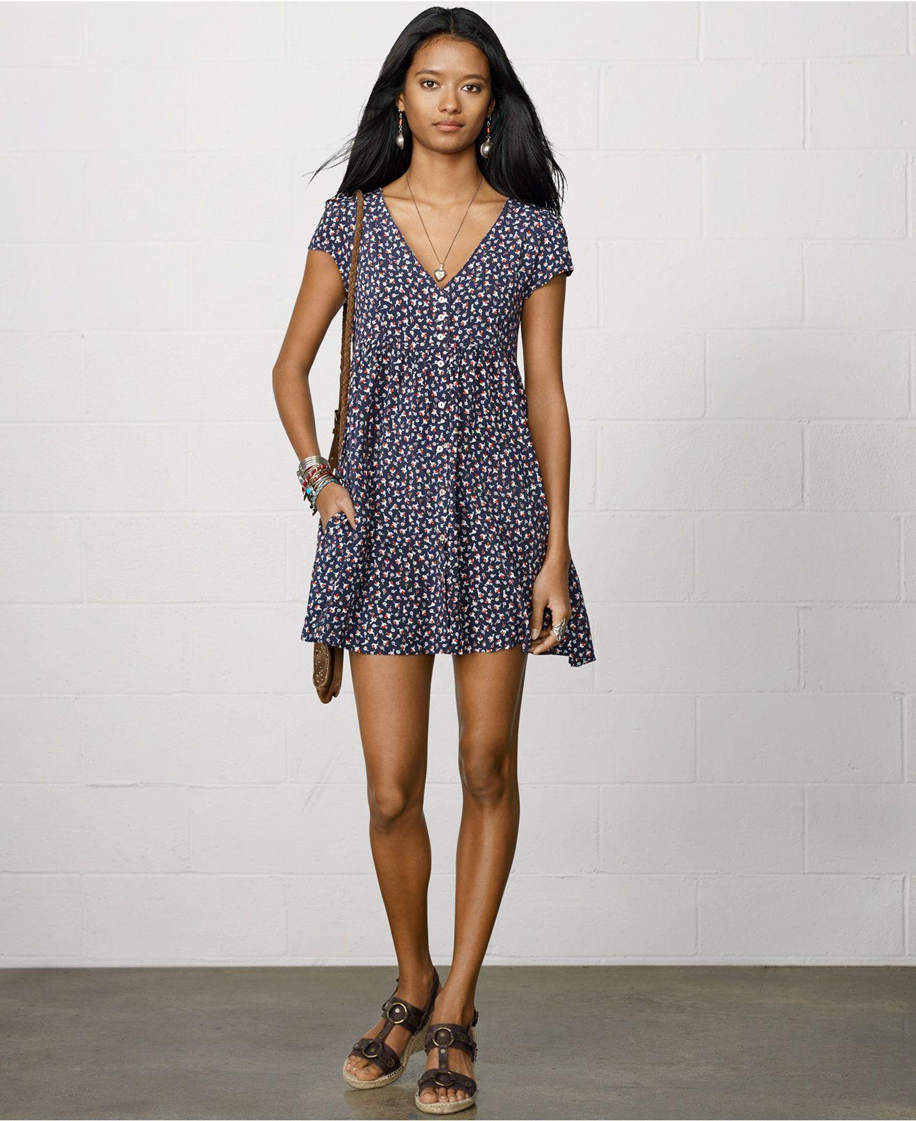 9d5f9b3196c Denim   Supply Ralph Lauren Short-Sleeve Floral-Print Shirtdress - Clearance  - Women - Macy s