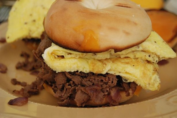 Steak Egg and Cheese Bagel | Copycats | Cheese bagels ...