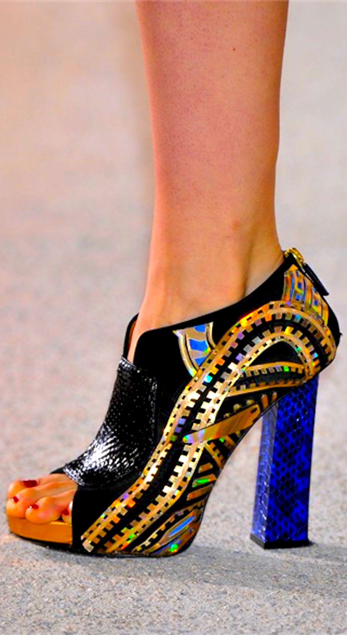 Manish Arora. These are gorgeous AND look comfortable enough to actually walk in!