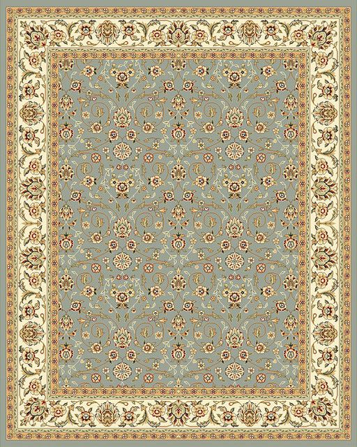Traditional Persian And European Designs Enhance Any Living Room Or Home Decor Rug Features Fl Motif Set On Light Blue Background With Ivory Border