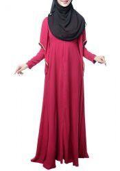 Ethnic Style Women's Round Collar Chain Long Sleeve Dress