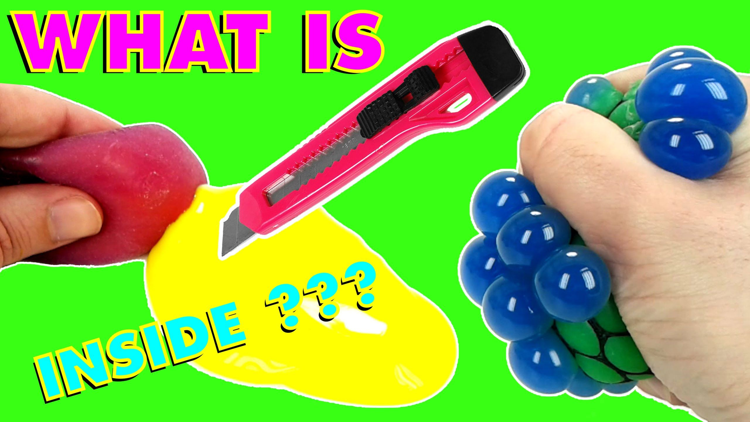 Squishy Slime Balls In Net Bag : What is INSIDE ??? Cutting Open Squishy Mesh SLIME Stress Balls Funny & Weird Color Changing ...