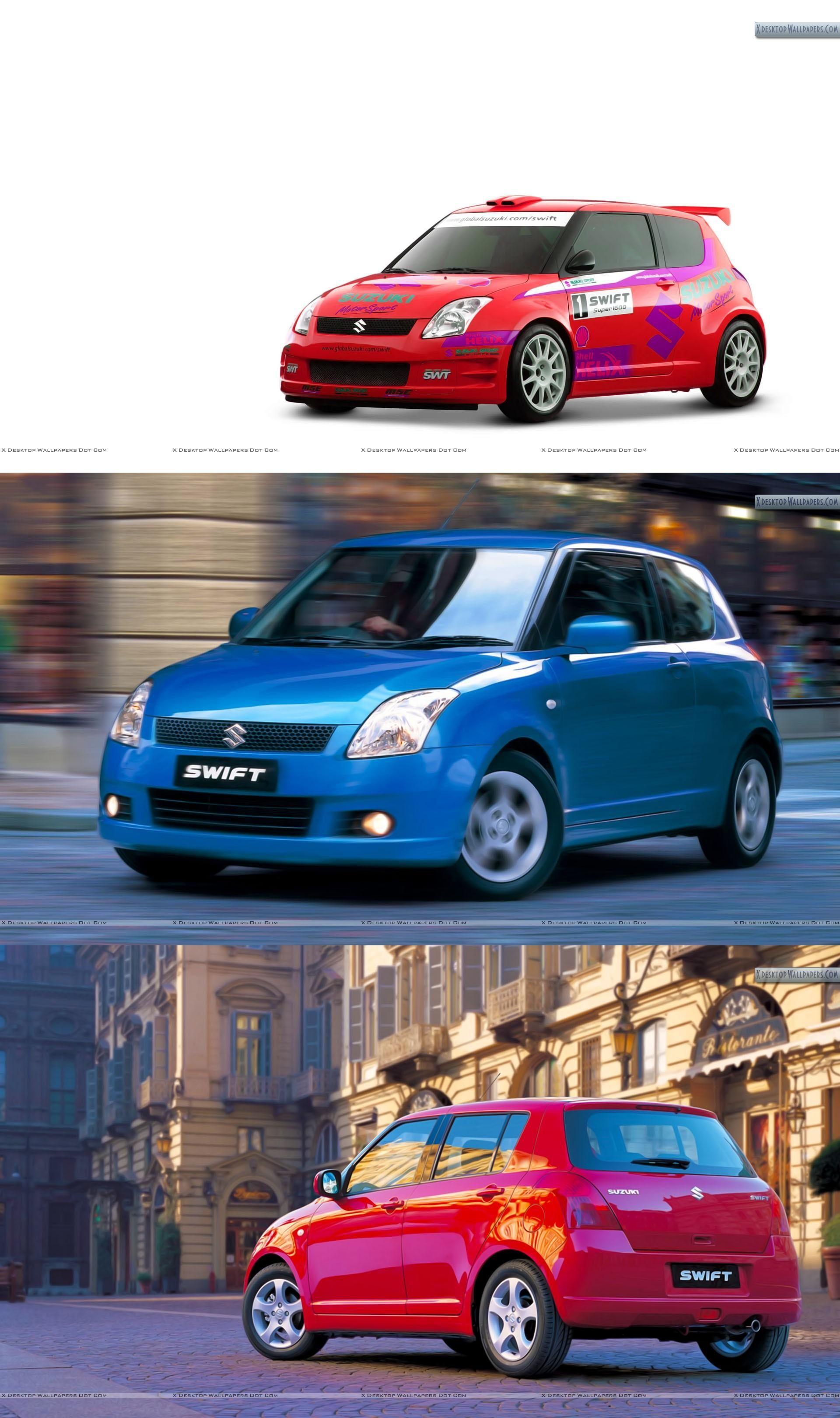 sport, swift, red, suzuki, parked, street, color, wheels
