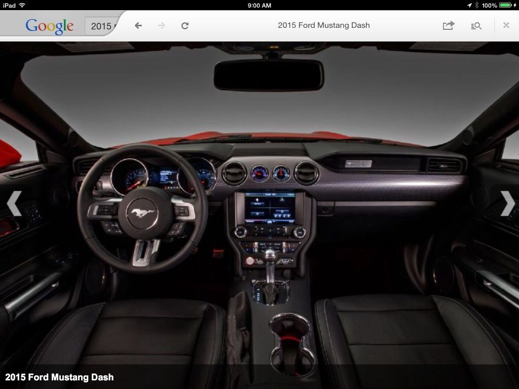 Superb 2015 Mustang Interior.