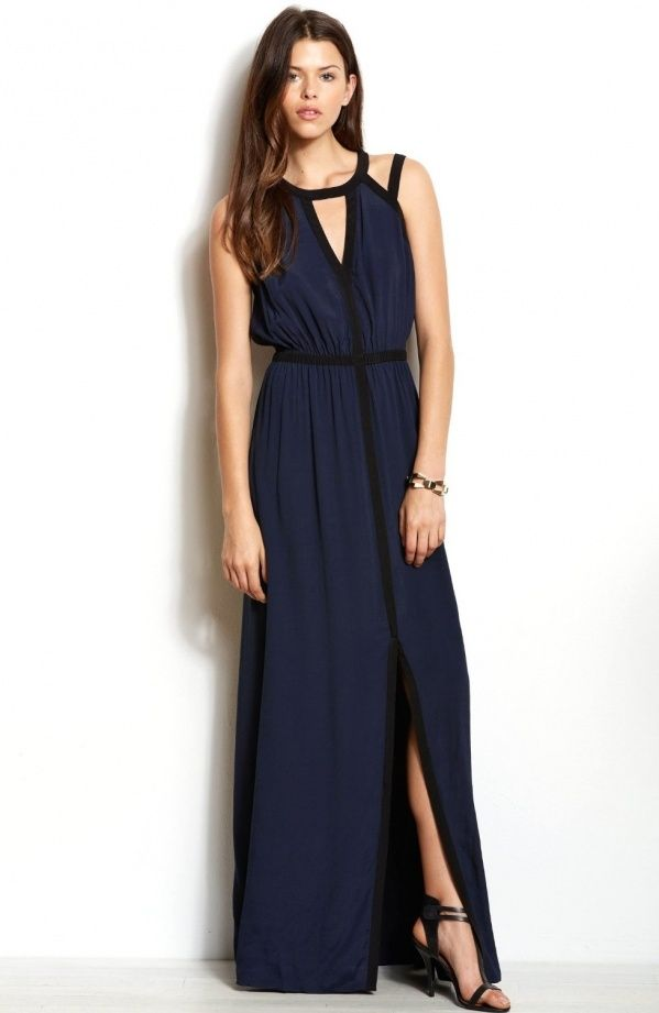Armani exchange pleated maxi dress