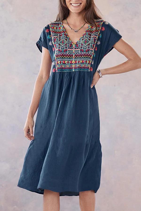 Art Childrens Summer Casual T Shirt Dresses Short Sleeve,Traditional Ukrainian