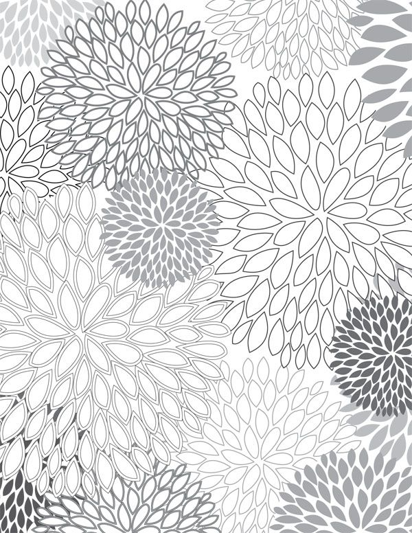 Floral Pattern Coloring Pages Coloring Coloring Pages