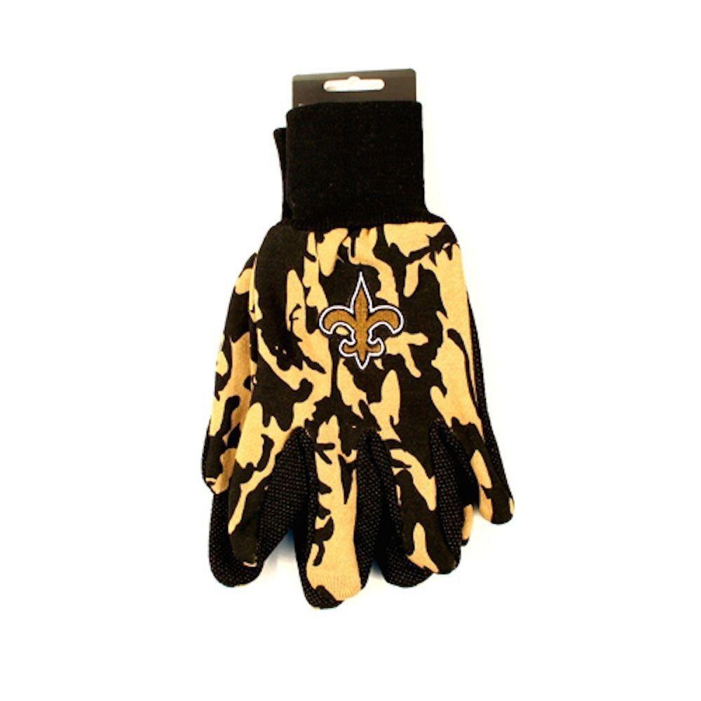 New Orleans Saints Camo Utility Work Gloves