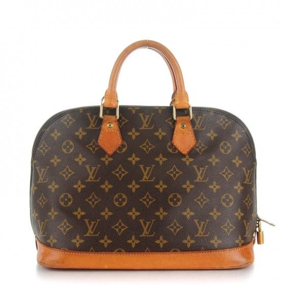 This is an authentic LOUIS VUITTON Vintage Monogram Alma PM. This bowling style tote is crafted of classic Louis Vuitton monogram coated canvas.