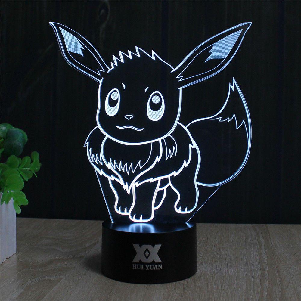 Pokemon Go Eevee 3d Led Lamp Pokemon Pokemon Go Pokemon Room